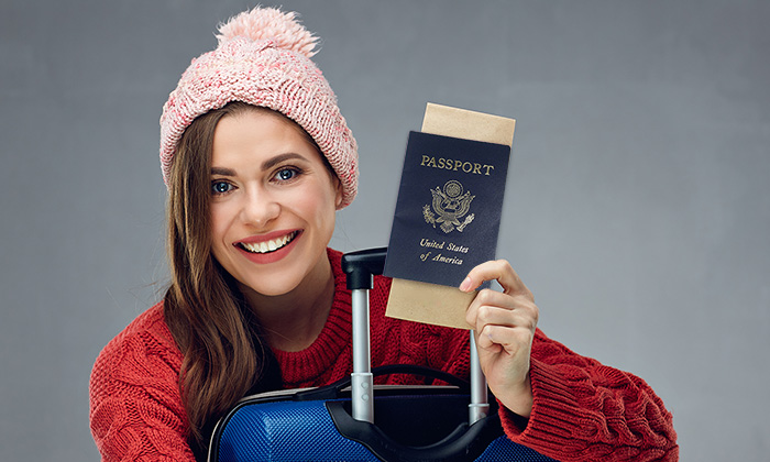 Passport check for holiday travel